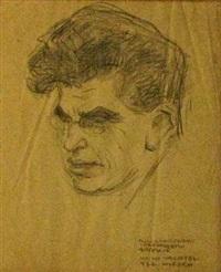 portrait of a man by wilhelm wachtel
