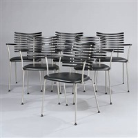 tiger armchairs (set of 6) by henrik lehm