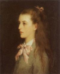 porträt eines mädchens by ferdinand jacques humbert