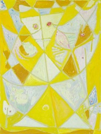 gul maske (yellow mask) by egill jacobsen