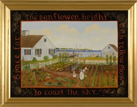 space for the sunflower, bright with yellow glow to court the sky by elizabeth mumford
