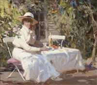 a summer afternoon in the garden by j. r. townsend