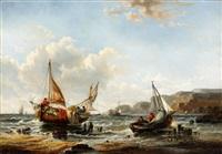 anlandende fischer an der englischen küste by abraham hulk the younger