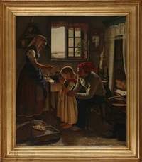 interior with a fisher family from skovshoved neighbourhood, denmark by edvard lehmann