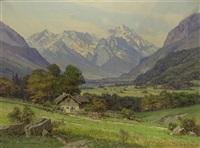 alpenlandschaft by ernst carl walter retzlaff
