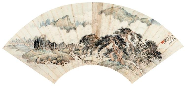 云山松瀑 landscape by xiao xun