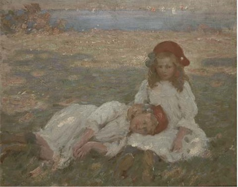 two young girls by the sea by garnet ruskin wolseley