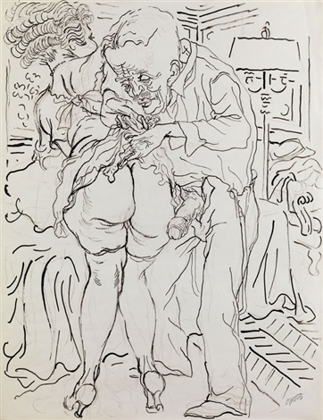 erotic drawing i by george grosz