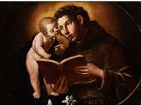 heiliger antonius von padua mit der vision des jesuskindes by alessandro tiarini