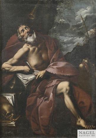 der heilige hieronymus in der einöde by pier francesco mola