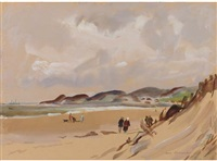 putsborough sands, north devon (+ 10 others; 11 works) by jean alexander