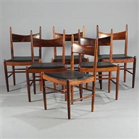 chairs (set of 6) by h. vestervig eriksen