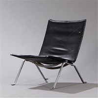 pk-22 easy chair by poul kjaerholm