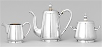kaffeservis (set of 3) by erik august kollin