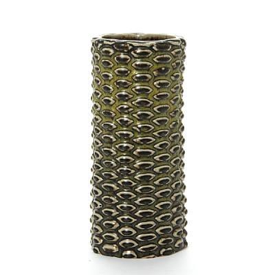 cylindrical vase modelled in budded style by axel johann salto