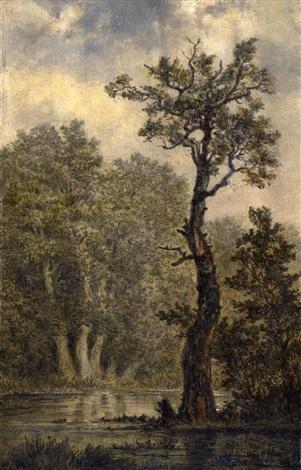 landschaftsstudie vermutlich rosental bei leipzig by carl gustav carus