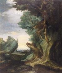 wanderer in waldlandschaft by alexander keirincx