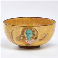 bowl depicting women by polia pillin