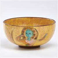 bowl depicting women by polia pillin