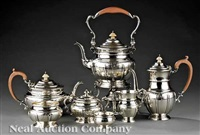 george v tea and coffee service (set of 7) by adie brothers (co.)