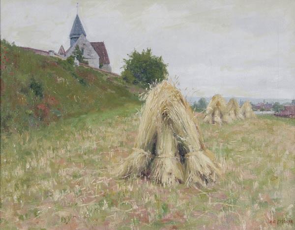 harvest scene by r. fischer
