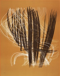 l 1971-5 (+ 2 others; 3 works) by hans hartung