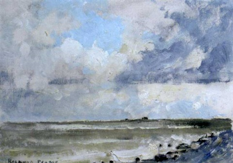 the beach at aldeburgh by edward holroyd pearce
