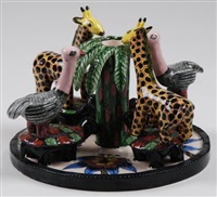 a carousel candlestick (design by bonnie ntshalintshali) by ardmore ceramics