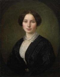 bildnis einer jungen dame in schwarzem kleid by benjamin orth