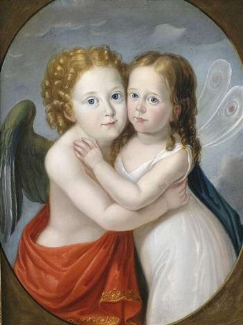 bildnis eines geschwisterpaares als amor und psyche by carl josef alois agricola