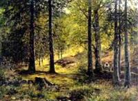 kleine sammlerin im sommerwald by m. pels lieusden
