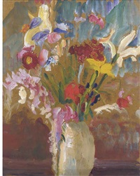 a summer arrangement (+ blossom; 2 works) by jean alexander