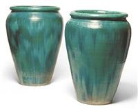 pair of large jardinières by linnware