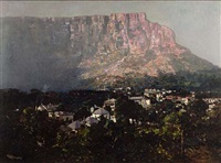 dawn on table mountain by robert gwelo goodman