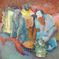 composition with figures by igor fomin