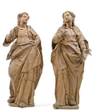 weibliche heilige pair by hans degler