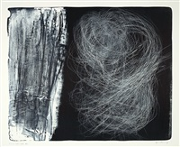 l 1973-51. - l 1973-15. - l 1976-5 (3 works) by hans hartung