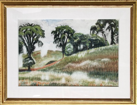 scene on windspear road by charles ephraim burchfield