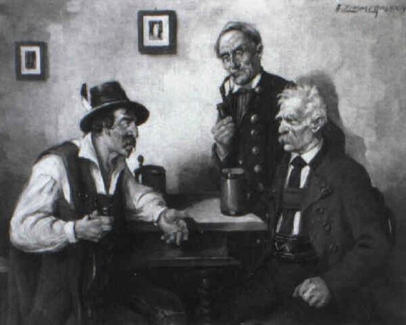 drei bauern am stammtisch by a zimmermann