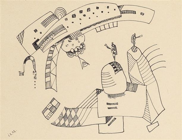 zeichnung zu accent rond by wassily kandinsky