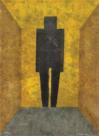 figura en negro by rufino tamayo