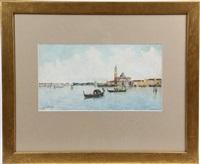venice grand canal, view of sanat maria della salute by rafael senet y perez