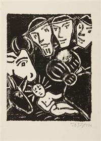 jesuskind in der krippe (+ 4 others; 5 works) by werner gothein