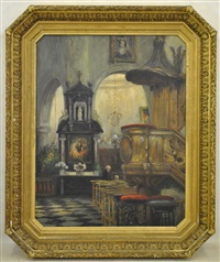 intérieur d'eglise by albert dandoy