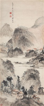 boating in xishan mountain by chen shuaizu