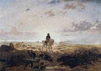 napoleon zu pferd auf dem schlachtfeld by auguste viande
