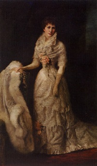 lady with the white fox coat by george da maduro peixotto