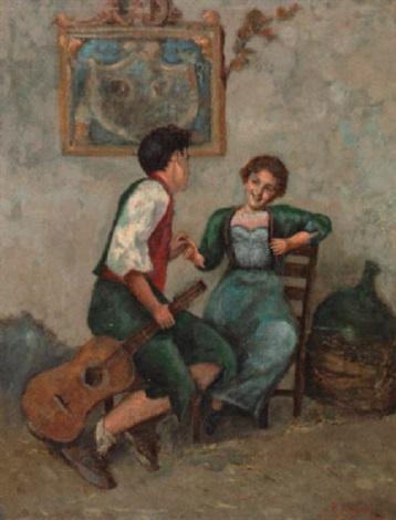 kokette gitarrenschülerin mit lehrer by salvatore postiglione