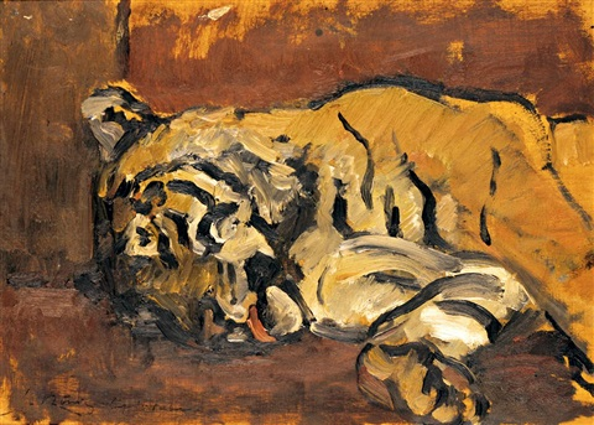 schlafender tiger by leo von könig