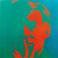 portait d'andy (2 works) by andy warhol